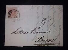 Lombardo Veneto piego con testo con 15 cent da Brescia a Breno