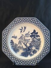 Vintage J & G Meakin Royal  Staffordshire Willow Octagonal Blue Plate