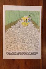 1955 Albert Dubout gravure couleurs Code de la Route à encadrer décoration n°1