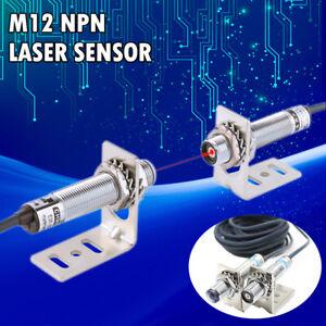 NPN M12 Lichtschranke Sensor Lasersensor für sichtbares Infrarotlicht 10-20M Neu
