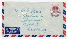 Hong kong: 1951 airmail cover pour l'ecosse (C12117)