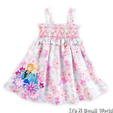 Disney Store Frozen Anna Elsa Floral Sundress Smocked Dress 4 5 6 7 8 9 10 NWT