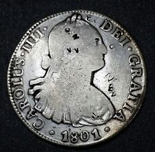 1801☆F.T.☆ Mexico ☆ 8 Reale Spanish Milled Bust☆ U.S. First Silver Dollar Coin