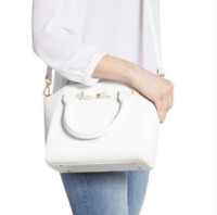 NWT TED BAKER JANNE WHITE LEATHER CROSSBODY BAG PURSE