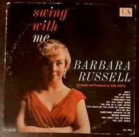 BARBARA RUSSELL Swing With Me LP 1960 jazz vocal UAL-3088 Mono VG  FREE SHIPPING