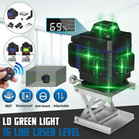 16 Line LD Green Light Laser Level 3D 360° Cross Self Leveling Measure Tool