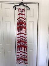 NWT Milly Kohl's Red White Stripe Maxi Dress XL
