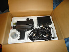 Vintage 70s Quasar VK100 Electronic Video Camera; Box, Power Supply, Cables+Lens