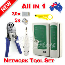 Network Ethernet LAN RJ11 RJ45 CAT5 CAT6 Cable Tester Wire Tracker Tool Kit