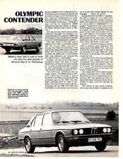 1973 BMW 520 ~ ORIGINAL 2-PAGE NEW CAR PREVIEW ARTICLE / AD