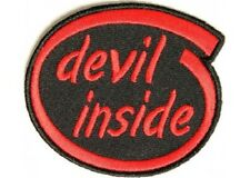 DEVIL INSIDE EMBROIDERED IRON ON PATCH