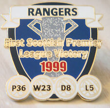 RANGERS Rare Victory Pins 1999 FIRST SCOTTISH PREMIER LEAGUE Badge  Danbury Mint