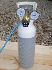 Bombola ossigeno   da 5 litri,   saldatura  autogena  cannello con riduttore