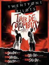 """TWENTY ONE PILOTS """"TOUR DE COLUMBUS 2017"""" OHIO CONCERT POSTER - Electropop Music"""