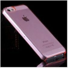 PINK iPhone 5 5C 5S Crystal Clear Plastic Skin Case Cover Ultra Thin Transparent