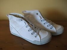 86c737ed9b05 Ladies TBS White CANVAS Lace Up Casual Ankle BOOT Size UK 4 EUR 37 New!
