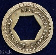 old German Token Schwarz Düsseldorf alte Automatenmünze Spielautomatenmünze