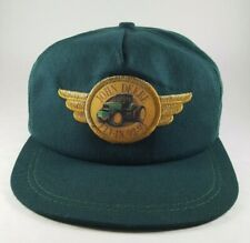 John Deere Mens Hat K Products Green Patch Clip Adjust 1990s Fly In Golf Vintage