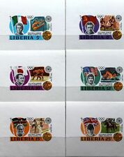 LIBERIA 1973 855-60 616-622 DELUXE SHEETS Olympics München Medal Winner MNH
