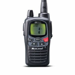 MIDLAND G9 PRO Black RTX Pmr / Lpd 69 Ch + 8 Batt. Et Caricat. 49002