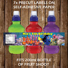 PERSONALISED FINDING DORY/NEMO FRUIT SHOOT BOTTLE LABELS CHILDREN PARTY FAVOURS