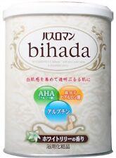 JAPANESE Bath Salt Ofuro Bihada Scent Lily with Collagen AHA Whitening