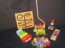 Waldorf Montessori Wooden Toy Lot Baby Daycare Preschool Toy Lot