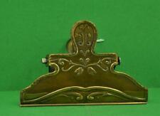 """Antique 19 c Brass letter / Paper Clip Art Nouveau design working 4.1/2 """" x 3"""""""