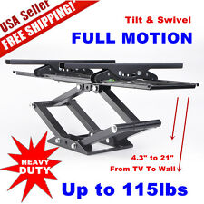 "Heavy Duty Dual Arm Full Motion TV Wall Mount Tilt Swivel Articulating 32 70"" OY"