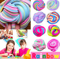 Rainbow Fluffy Floam Moulding Putty --- Plasticine Stress Relief Child Toy Slime