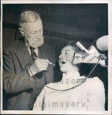 1951 94 Year Old Dentist Dr Herbert Adams Boston Using Sandblaster Press Photo