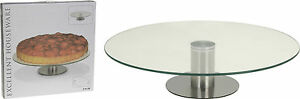 30cm Glass Cake Stand Rotating Stand Cake Decorating Display Stand Lazy Susan