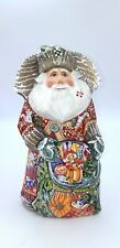 "9.8"" Wooden Carved Santa Claus Figurine Christmas decoration Home decor"