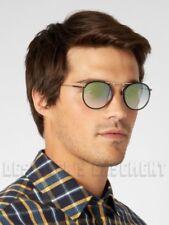 GARRETT LEIGHT brown Leather T50 gold CORDOVA Retro round Sunglasses NWT Authent