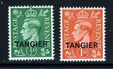 Agencias de Marruecos Tánger kg VI 1944 Colores pálido conjunto SG 251 & SG 252 Como Nuevo