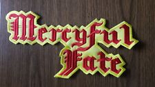 MERCYFUL FATE,SEW ON RED AND YELLOW EMBROIDERED LARGE BACK PATCH