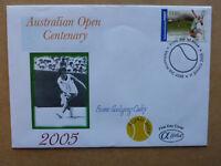 2005 TENNIS AUSTRALIAN OPEN EVONNE GOOLAGONG $1.80 ALPHA FIRST DAY COVER FDC