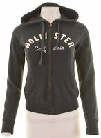 HOLLISTER Womens Hoodie Sweater Size 10 Small Black Cotton  IB11