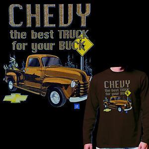 * Chevrolet Chevy GMC Truck Vintage Car  Oldtimer  T-Shirt *0169 LS