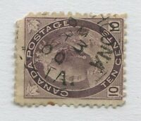 """ALBERTA TERRITORY TOWN CANCEL """"STRATHCONA"""" SCARCE DATED EARLY  RF """"D"""""""