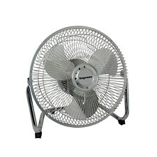 "IMPRESS 9"" 3-SPEED QUIET ALL METAL HIGH VELOCITY FLOOR SHOP HOME FAN TILTABLE"