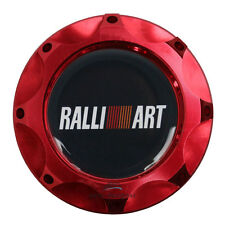 JDM Billet Aluminum Red Engine Filter Oil Cap Tank Cover Ralliart For Mitsubishi