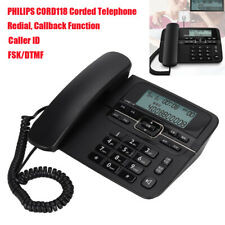 Philips Corded Telephone Landline Senior Answering Machine Home Office Caller ID