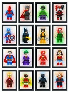 Superhero Avengers DC Characters Lego Bedroom Posters Birthday Gift Print Only
