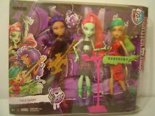 MONSTER HIGH FIERCE ROCKERS 3 PACK VENUS MCFLYTRAP CLAWDEEN WOLF JINAFIRE LONG