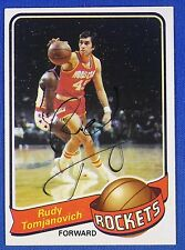 RUDY TOMJANOVICH autographed  signed 1979-80 Topps Houston Rockets