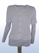 maglia donna bianco BRU-AN MADE ITALY tg S SMALL manica corta