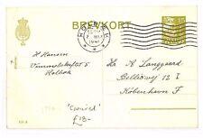 BF174 1941 WW2 DENMARK Holbæk GERMAN OCCUPATION Postcard Caravel