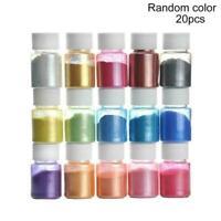 20 Color Epoxy Resin Metallic Pearl Mica Pigment Powders Nail Dye Colorant Q9H4