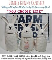 "10 Strawberry Street Bunny Canister Spring Easter Dimply ""YOU CHOOSE"" "" NEW '19"